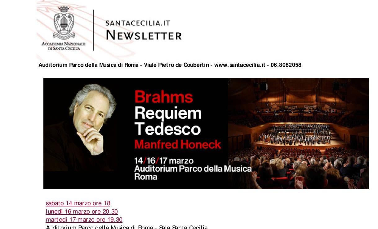 I consigli dallo Spazio: biglietti scontati per il Requiem Tedesco di Brahms