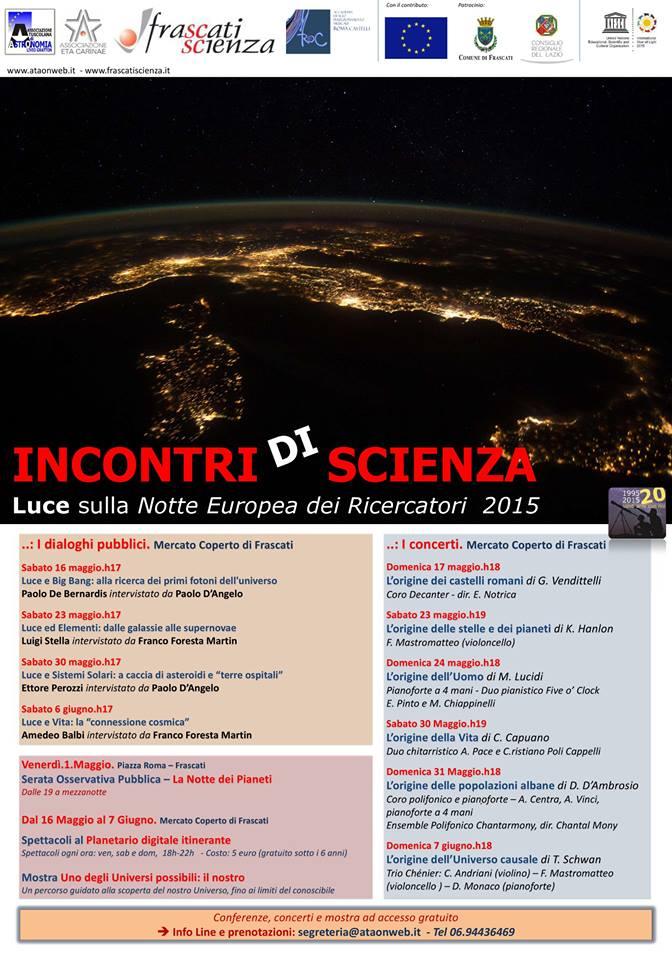 Incontri di scienza: L'origine dei Castelli Romani