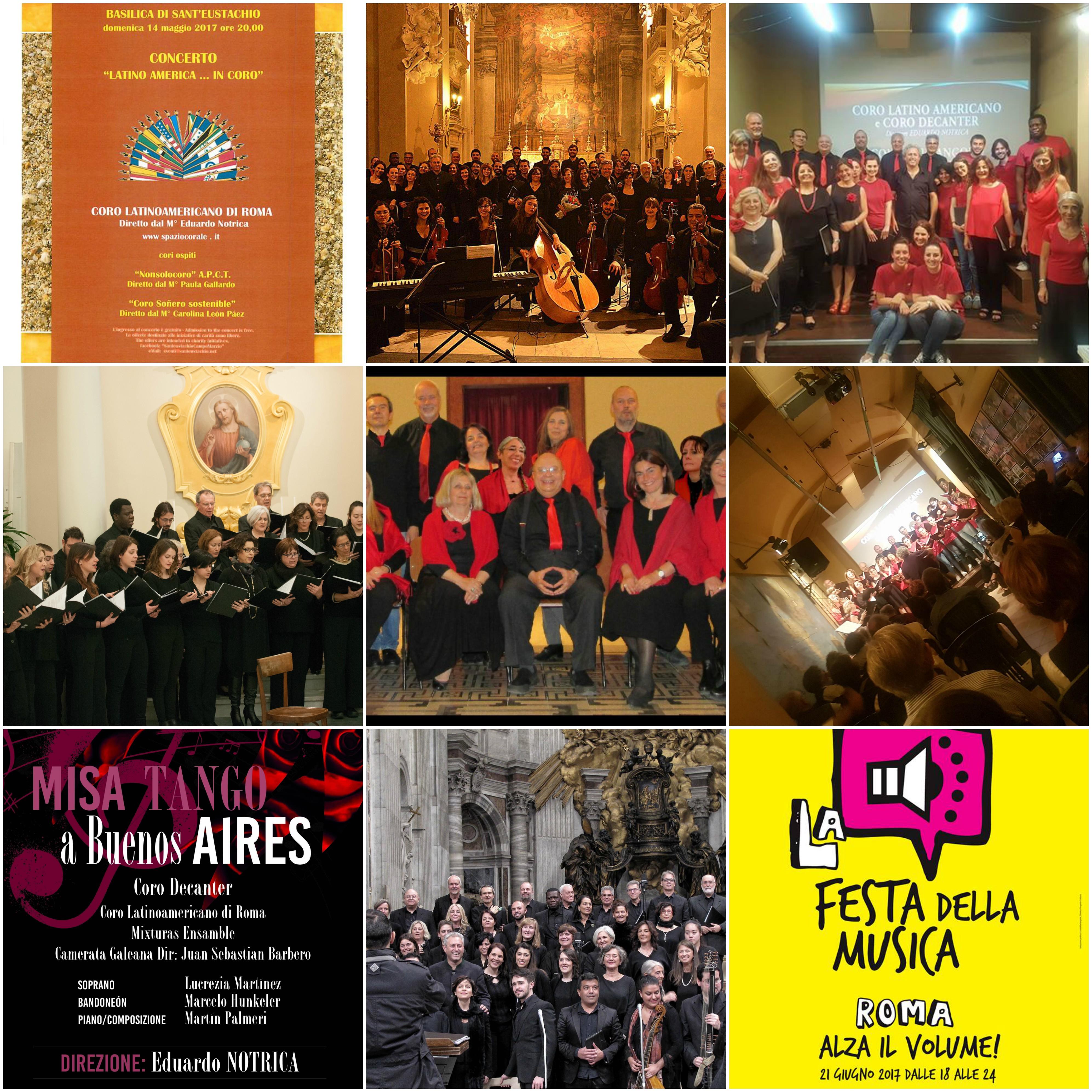 Ricordi della Stagione 2016/2017 Coro Latinoamericano
