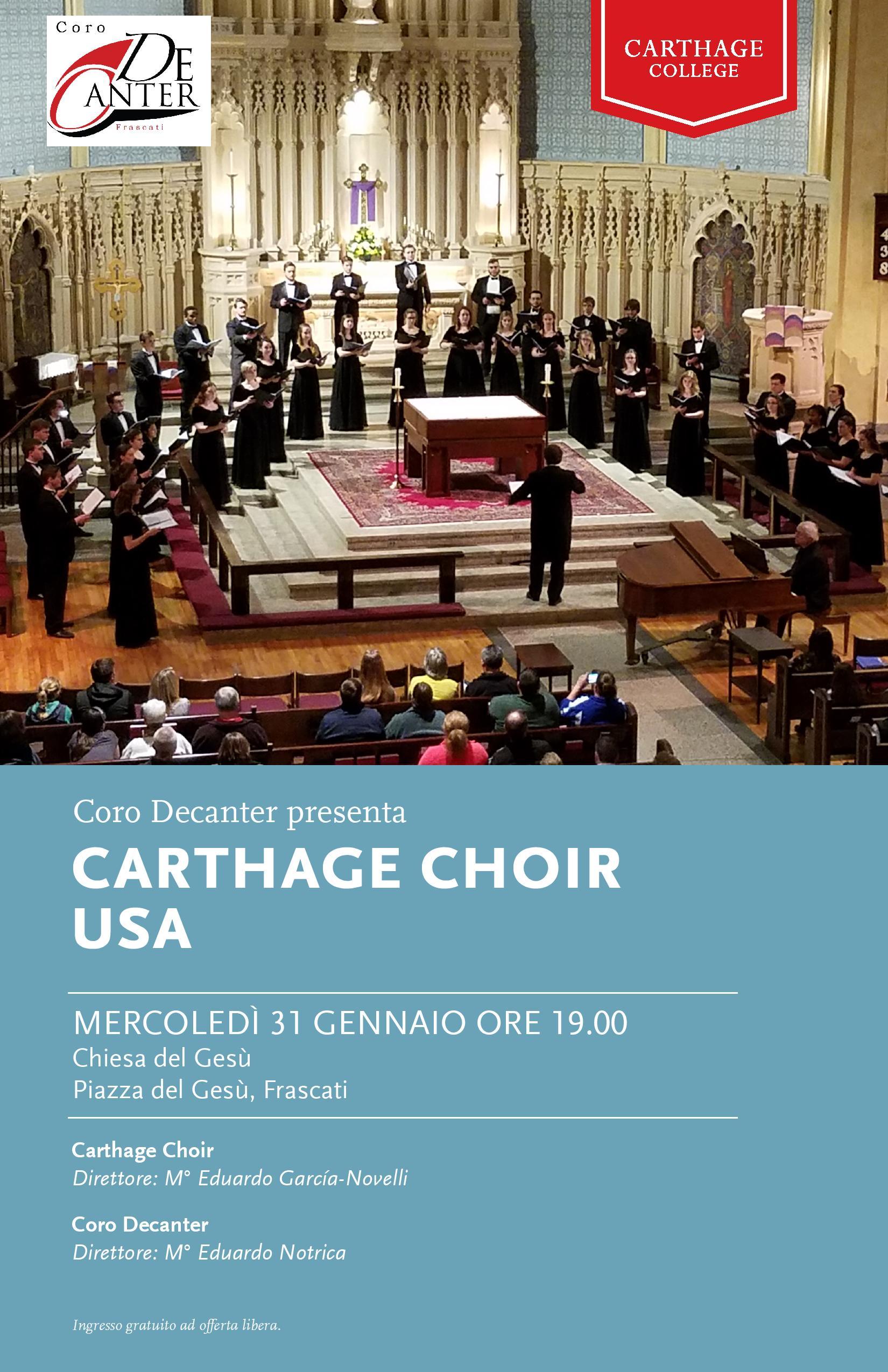 Il Coro DeCanter presenta il Carthage Choir(USA)