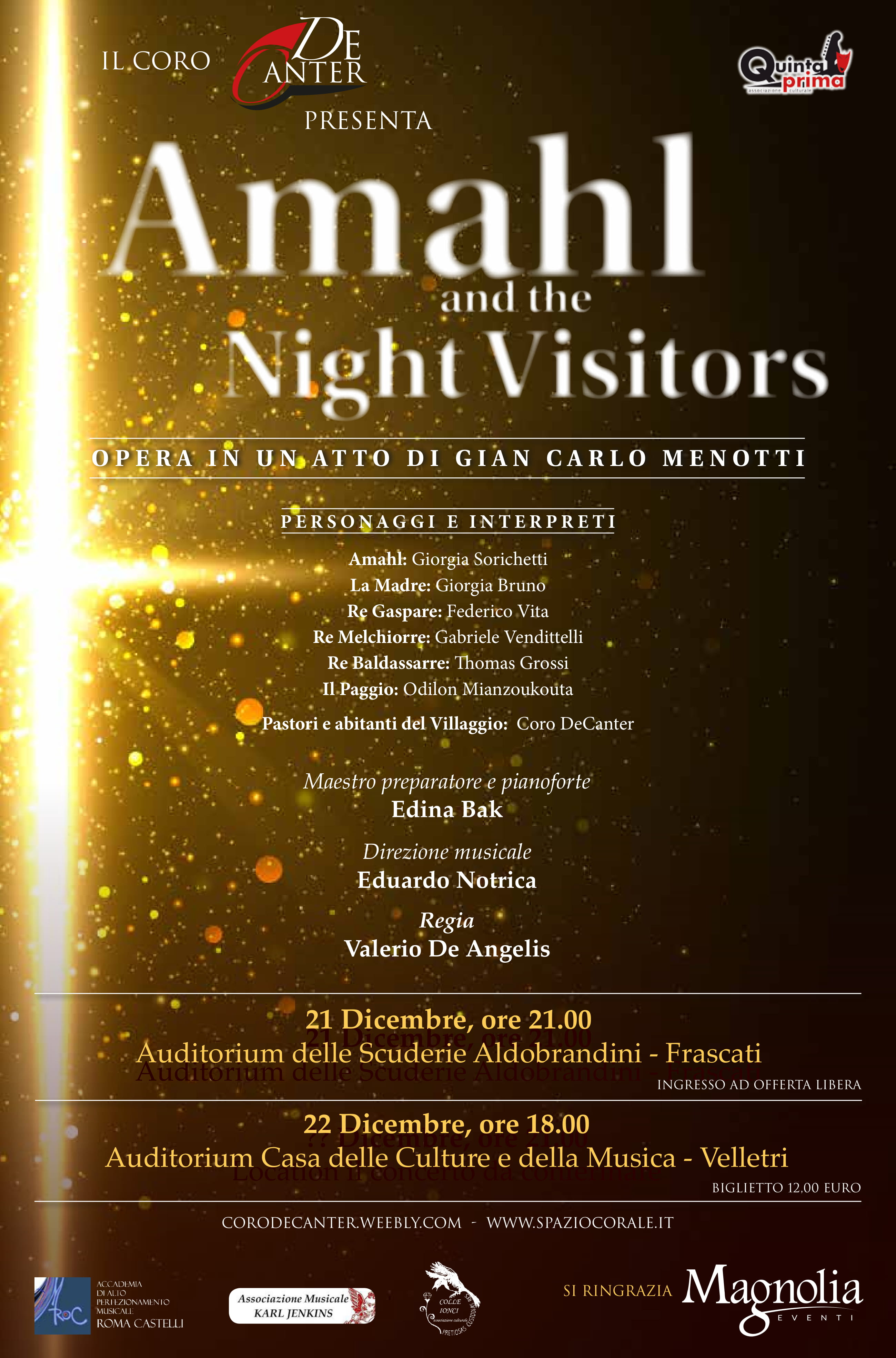 Amahl and the night visitors, coro Decanter